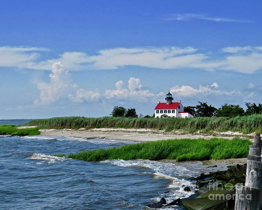 Summer at East Point Lighthouse  by Nancy Patterson