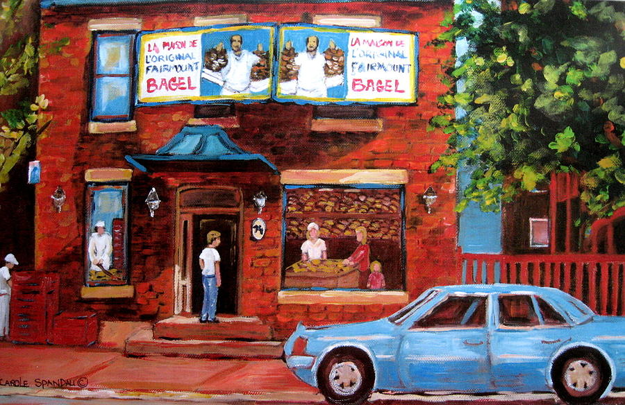 Fairmount Bagel Painting - Summer At Fairmount by Carole Spandau