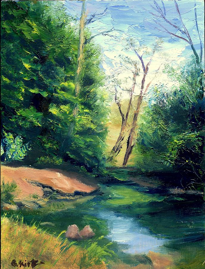 Landscape Painting - Summer At Storm by Gail Kirtz