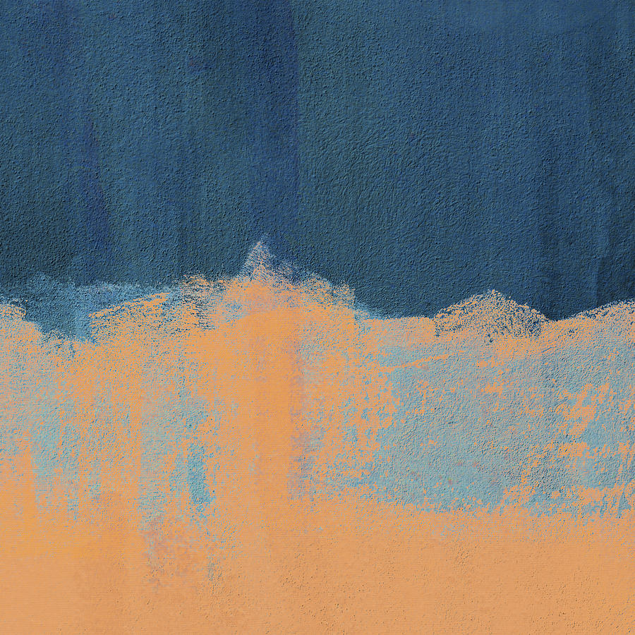 Summer Beach Abstract Orange Blue by Menega Sabidussi