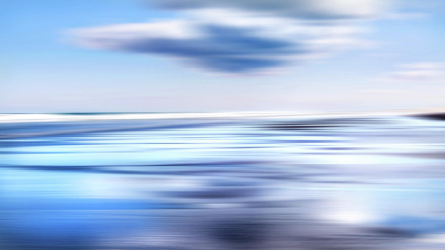 Beach Photograph - Summer Beach Blues by Bill Wakeley
