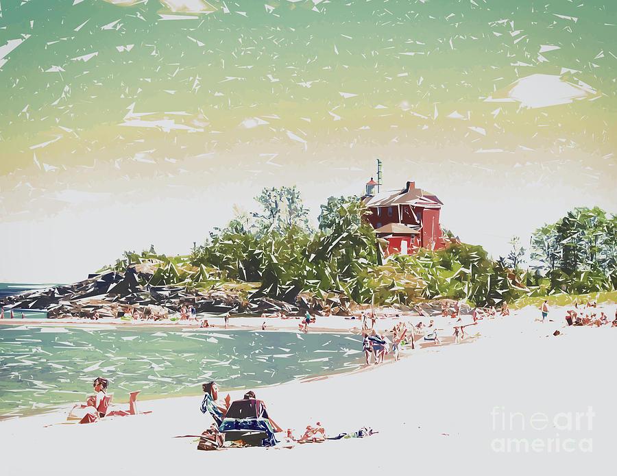 Beach Digital Art - Summer Beach Sunshine by Phil Perkins