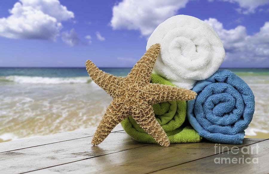 Summer Photograph - Summer Beach Towels by Amanda Elwell