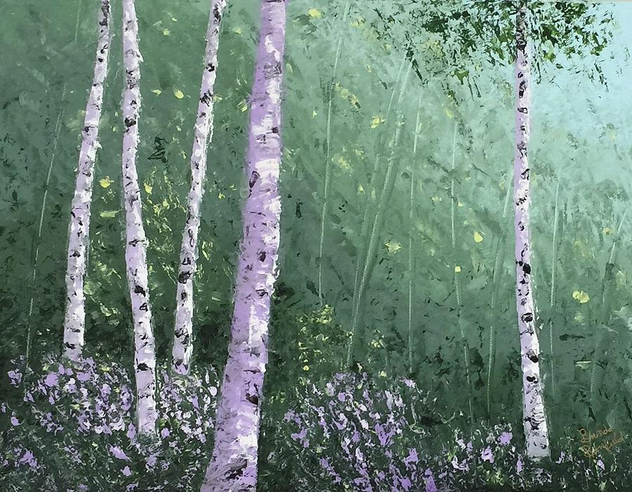 Summer Birch Trees by Brenda Bonfield