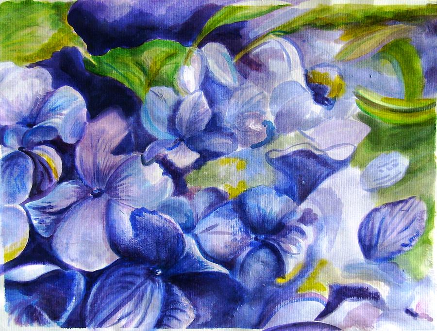 Flowers Painting - Summer Blues by Marsha Hale