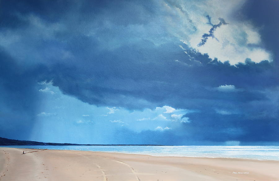 Sea Painting - Summer Blues by Paul Newcastle