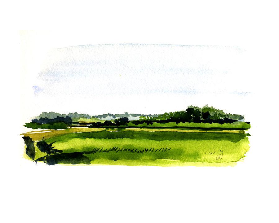 Landscape Painting - Summer Bog At Marstons Mills by Paul Gaj
