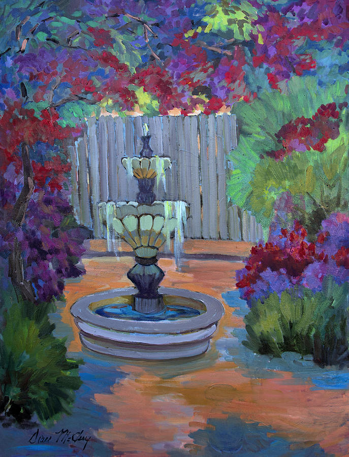 Patio Painting - Summer Bougainvillea by Diane McClary