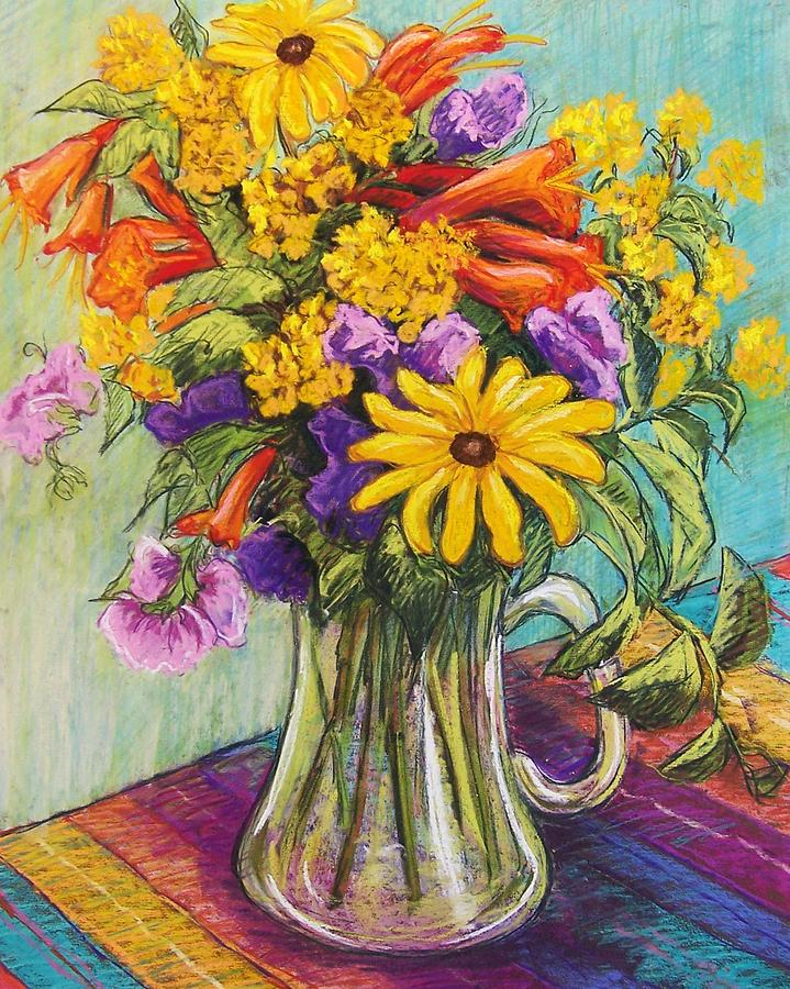 Still Life Pastel - Summer Bouquet by Candy Mayer