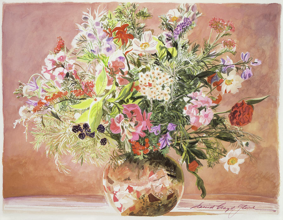 Summer Bouquet Painting by David Lloyd Glover