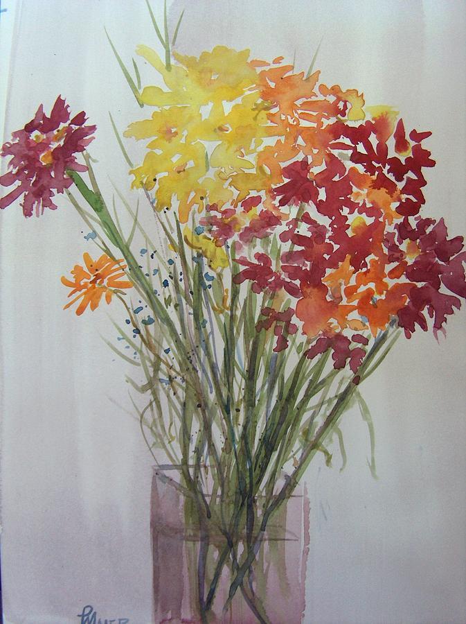 Stilllife Painting - Summer Bouquet by Pete Maier