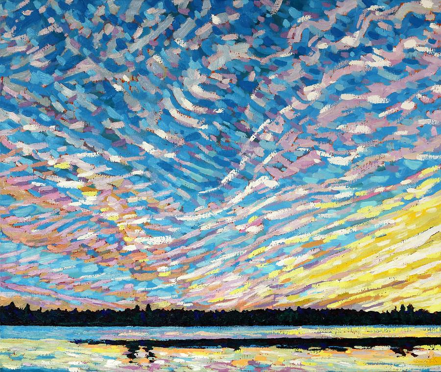 July Painting - Summer Cirrus by Phil Chadwick