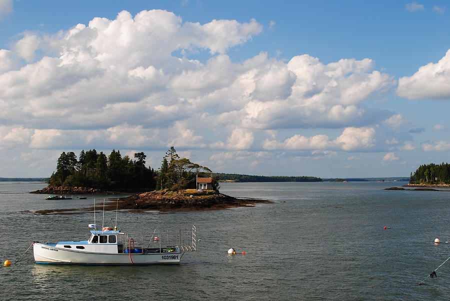 Downeast Photograph - Summer Clouds Downeast by Steven Scott