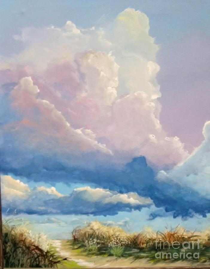 Landscape Painting - Summer Clouds by John Wise