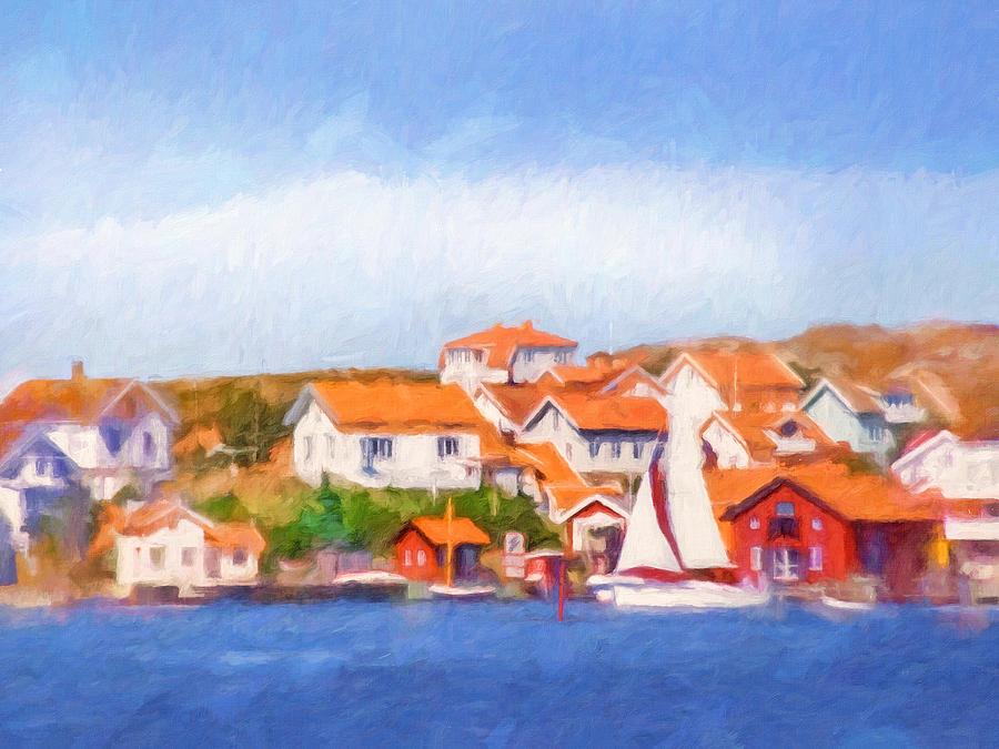 Seascape Painting - Summer Coast by Lutz Baar
