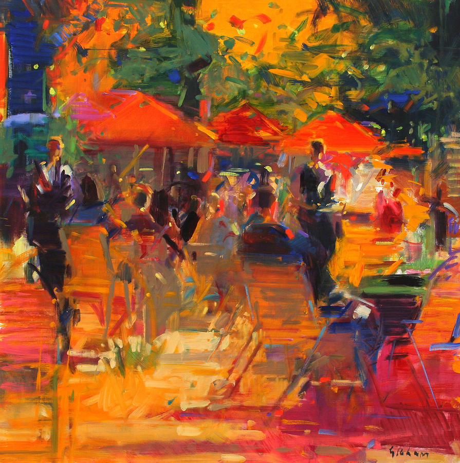 Summer Cocktails Painting By Peter Graham