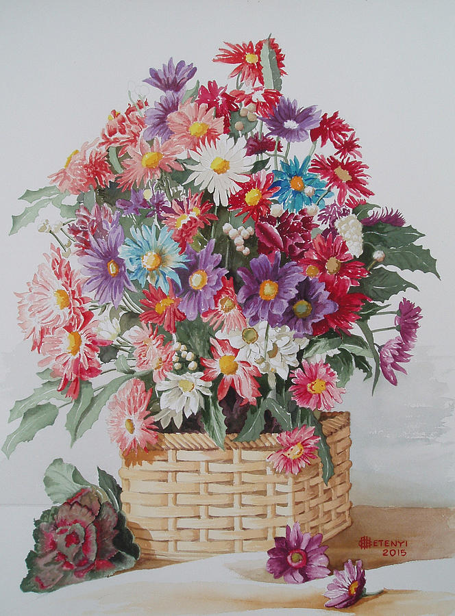 Flower Painting - Summer Colors  by Charles Hetenyi