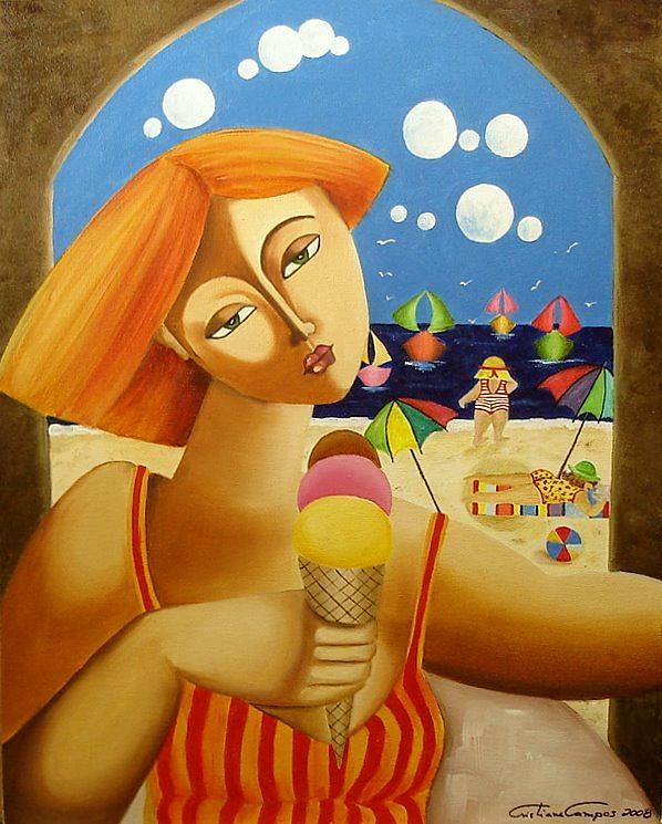 Figurative Painting - Summer by Cristiane Campos