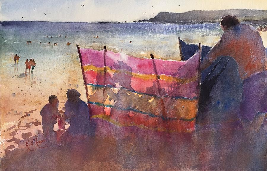 Summer Day Clonea Strand by Keith Thompson