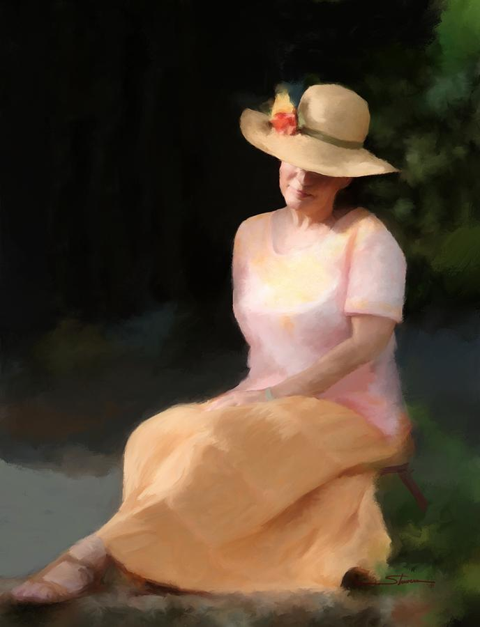 Women Painting - Summer Day Dreamer by Carver Shivers