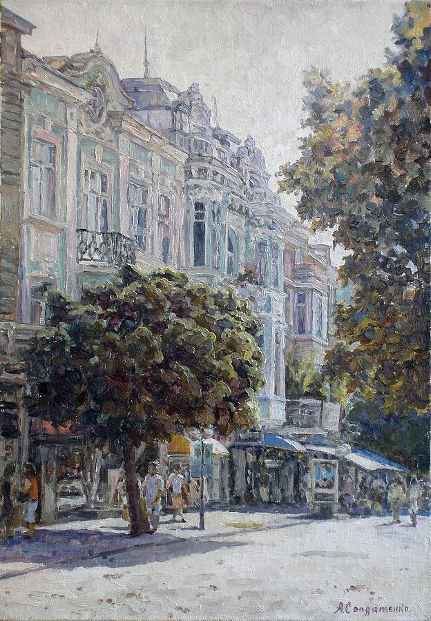 Sunny Day Painting - Summer Day In Varna by Andrey Soldatenko