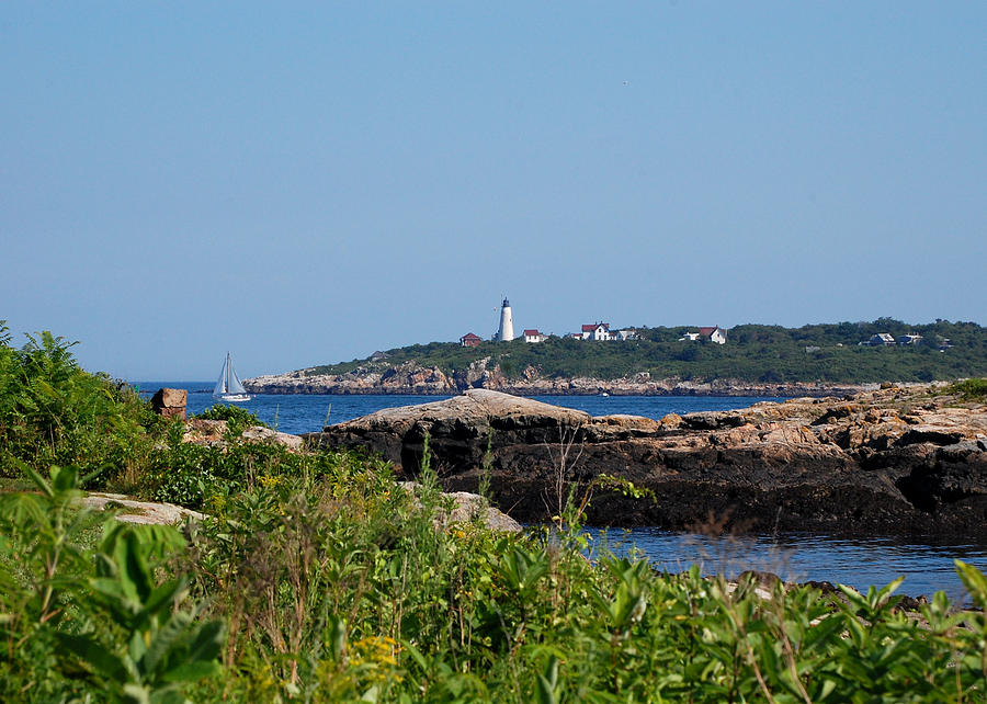 Lighthouse Photograph - Summer Day by Lisa Kane
