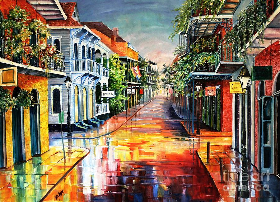 New Orleans Painting - Summer Day on Royal Street by Diane Millsap