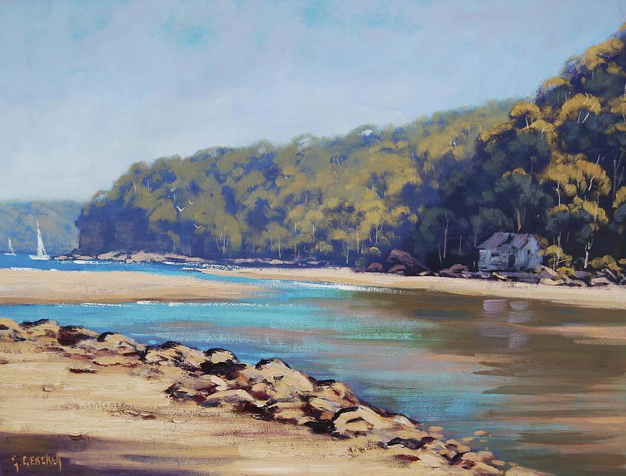 Seascape Painting -  Summer Day Patonga Nsw Australia by Graham Gercken