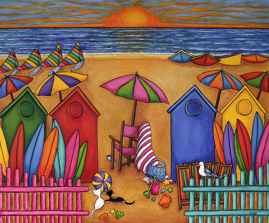 Summer Painting - Summer Delight by Lisa  Lorenz