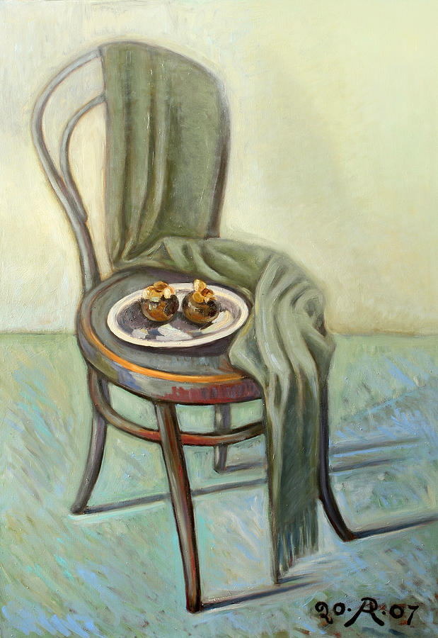 Summer ending Painting by Raimonda Jatkeviciute-Kasparaviciene