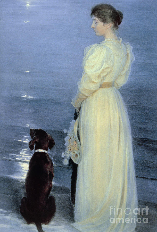 Summer Evening At Skagen Painting - Summer Evening At Skagen by Peder Severin Kroyer