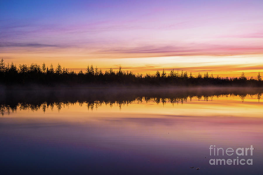 Sky Photograph - Summer Evening Landscape With River, Forest And Cloudy Sky  by Oxana Gracheva