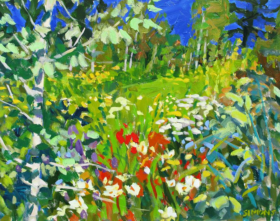Paintings Painting - Summer Flowers by Brian Simons