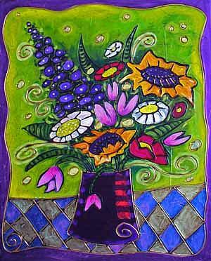 Still Life Painting - Summer Flowers by Inna Novikova