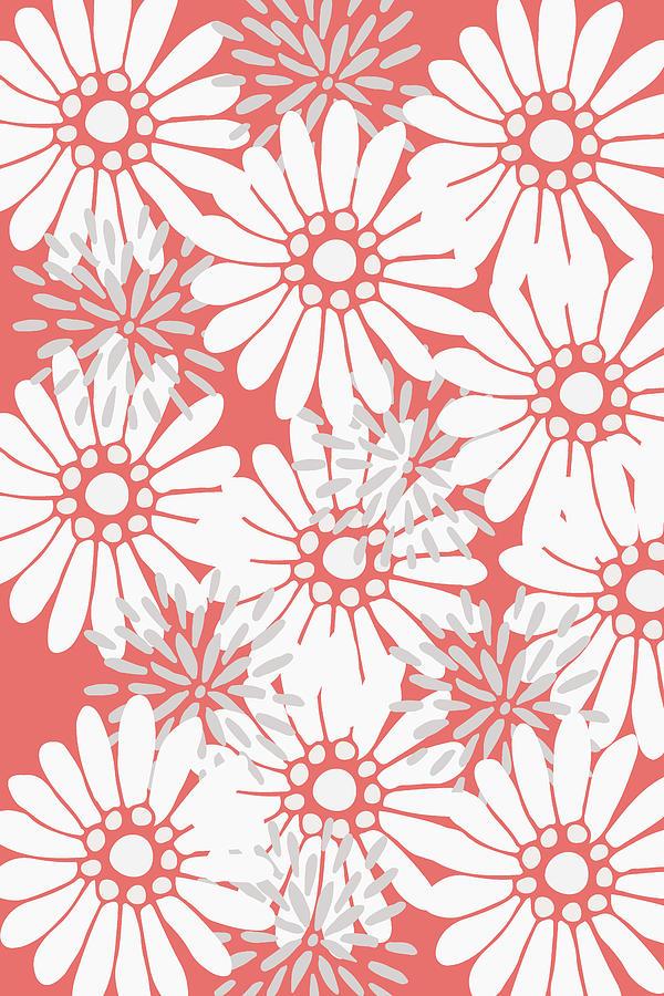 Flower Digital Art - Summer Flowers Red by Maria Heyens