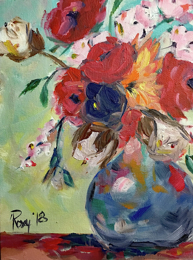 Flowers Painting - Summer Flowers by Roxy Rich