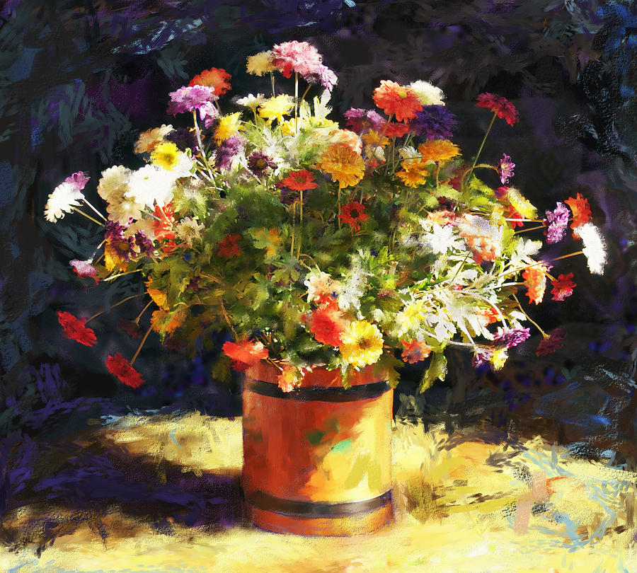 Flowers Painting - Summer Flowers by Sandra Selle Rodriguez