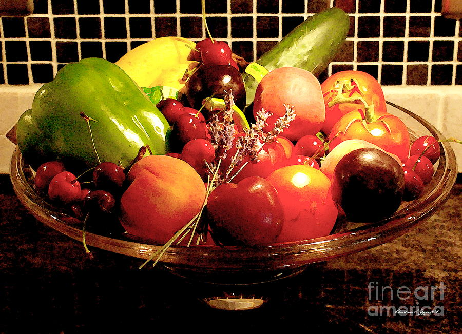 Peppers Photograph - Summer Fruit And Veggies Still Life -- Another Fresh Paintograph by Christine S Zipps