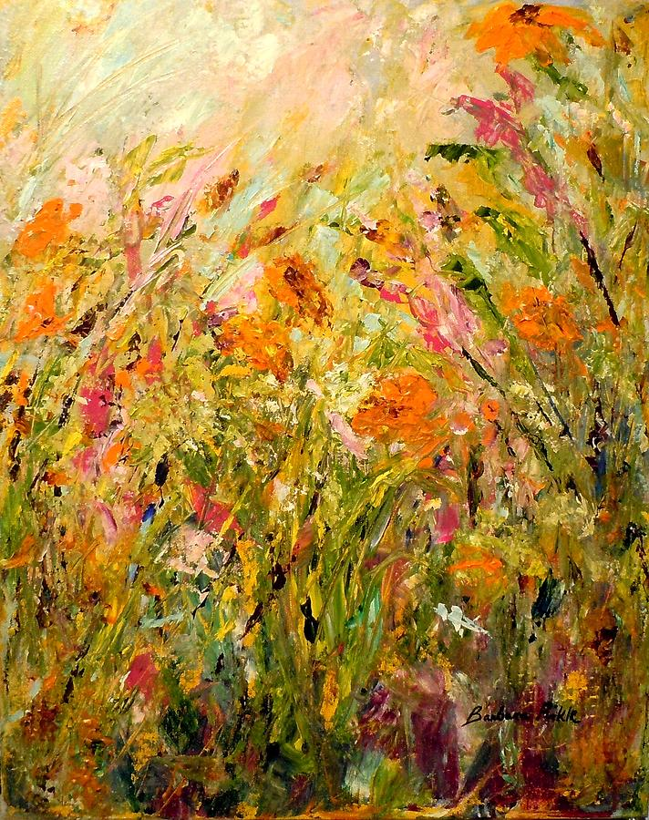 Flowers Painting - Summer Garden by Barbara Pirkle