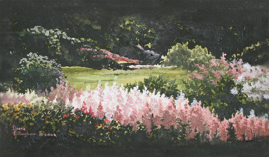 Nature Painting - Summer Garden by Diane Ellingham