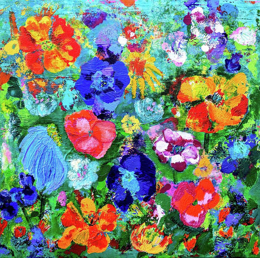 Flower Painting - Summer Garden  by Haleh Mahbod