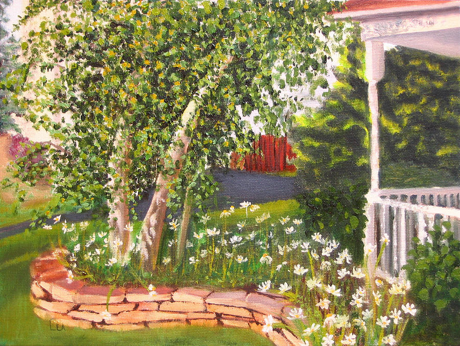 Daisies Painting - Summer Garden by Lea Novak