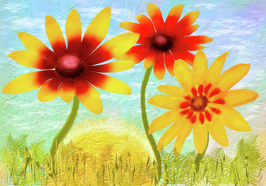 Summer Garden Sunrise by Bill Johnson