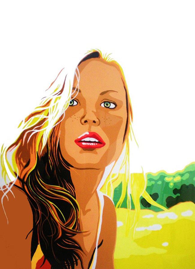 Pop Art Girl Painting - Summer Girl by Heli Luukkanen