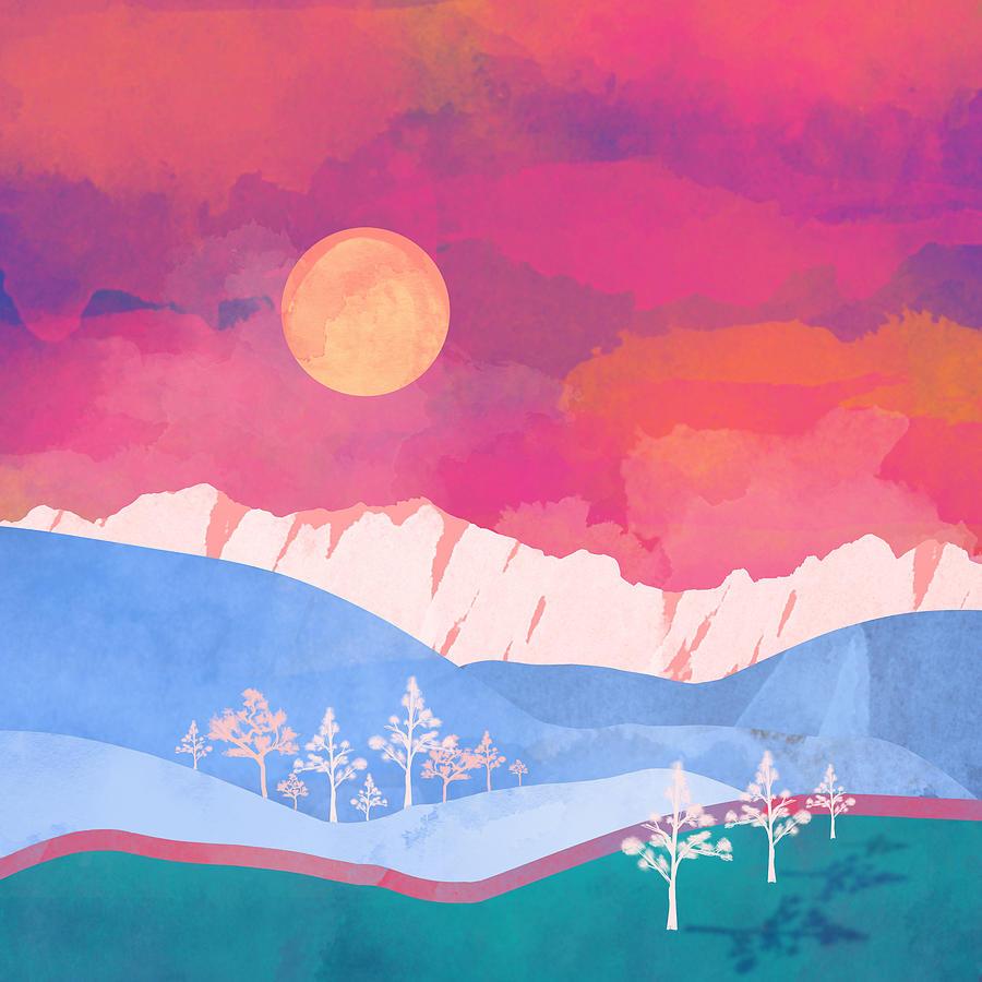 Summer Digital Art - Summer Glow by Spacefrog Designs