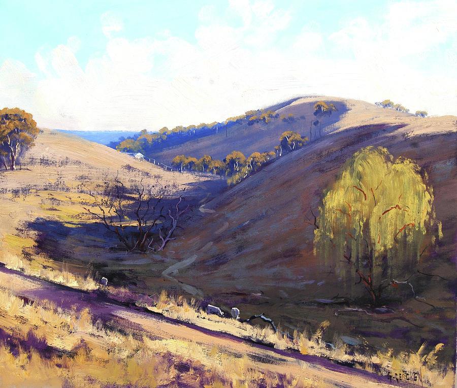 Summer Grasses Kanimbla, Australia Painting