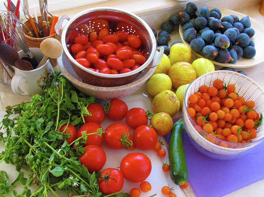 Fresh Produce Photograph - Summer Harvest by Ave Guevara