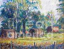 Landscape Painting - Summer Idyll by Jan Bennicoff