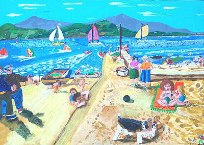 Sea Painting - Summer In Ballydavid. by Frank Maguire