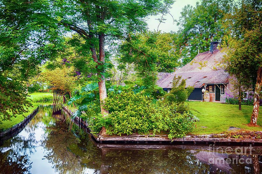 Water Photograph - summer in old dutch village, Giethoorn by Ariadna De Raadt
